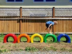 Preschool Diy Playground Ideas - Diy Tire Balance Beam Play Area Backyard Diy Playground Diy Balance Beam Tri Level In 2020 Diy Playground Outdoor Play 34 Best Diy Backyard Ideas And . Tire Playground, Preschool Playground, Playground Ideas, Kids Outdoor Playground, Children Playground, Playground Design, Outdoor Play Spaces, Outdoor Fun, Backyard For Kids