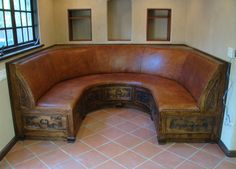 Custom Built In Booth, upholstered in quality hides  www.demejico.com