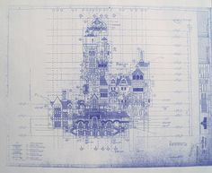 This etsy shop has real-deal, printed like actual blueprint blueprints of just about anything. So cool. : Walt Disney World MGM Tower Of Terror South Elevation Blueprint $14.99