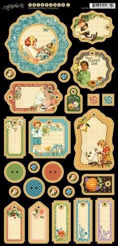 Graphic 45 - Children's Hour - Journaling Chipboard