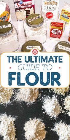With baking ingredients in short supply let this guide to flour help you use and swap standard flours like all purpose, bread flour and cake flour, but also whole wheat, ancient grain, and gluten-free flour options. Artisan Bread Recipes, Flour Recipes, Baking Recipes, Baking Hacks, What Is Cake Flour, What Is Bread, Cake Flour Recipe, Whole Wheat Muffins, Wheat Pizza Dough