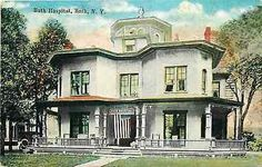 Bath New York NY 1915 Bath Hospital Collectible Antique Vintage Postcard