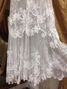 RARE - Antique Brussels Lace Applique Wedding Dress - Edwardian - FLAPPER - GATSBY 1920's - Plus size on Etsy, $3,159.15