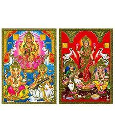 Lakshmi, Saraswati, Ganesha - Posters
