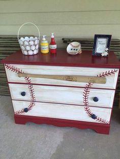 Baseball Dresser Turn CLu0027s Dresser Into This.