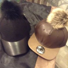 NWT Black canvas Pom Pom cap.One size. aa8c31269707
