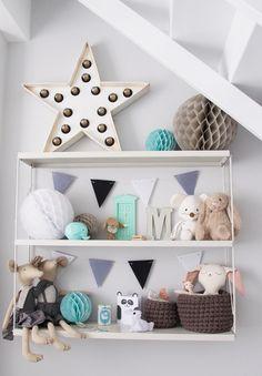 scandinavian nursery inspiration grey mint / habitación bebé infantil gris / Macarena Gea