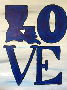 Louisiana Love Painting - All paintings are taught at Painting and Pinot - Baton Rouge