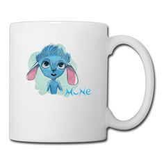 Cool Mune Blue Creature Ceramic Coffee Mug, Tea Cup | Best Gift For Men, Women And Kids - 13.5 Oz, White *** Special  product just for you. See it now! : Coffee Cups and Mugs