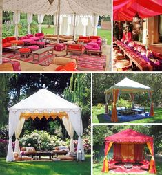 moroccan party tent...could jazz up our sun shelter?