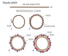 37 Ideas Jewerly Making Beads Free Pattern For 2019 Beaded Bracelet Patterns, Beading Patterns, Beaded Bracelets, Seed Bead Jewelry, Bead Jewellery, Seed Beads, Bead Crafts, Jewelry Crafts, Earring Tutorial