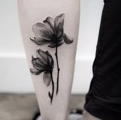 X-ray Flower Tattoo Design