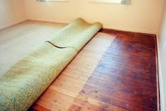 Can I Install Laminate Flooring Over Carpet Underlayment? 5 Creative Ways to Use Laminate Flooring on Walls Creative Home Flooring transiti. Underlay For Laminate Flooring, Installing Laminate Wood Flooring, Flooring On Walls, Home Gym Flooring, Diy Flooring, Carpet Flooring, Wooden Flooring, Diy Carpet, Wall Carpet