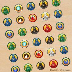 FREE Printable Ninjago Hershey's Kisses Stickers