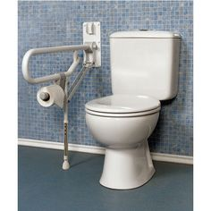 grab bars for bathrooms | Bathroom Grab Bars - Fold-Up Double Support Grab Bar…