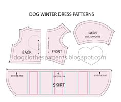 dog dress pattern. Leave the skirt off for a shirt