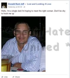 DONALD KENT JEFF..Fake and Serious scammer pest on ALL Dating site and pages #scam #facebook https://www.facebook.com/LoveRescuers/posts/605127336320364
