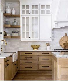 Cabinetry Kitchen Redo, Home Decor Kitchen, Kitchen Furniture, Kitchen Interior, Home Kitchens, Kitchen Layout, Small Kitchens, Light Wood Kitchens, Kitchen Storage