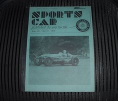 Super RARE MARCH - APRIL 1949 SPORTS CAR Magazine SCCA Hard to Find FREE US Ship