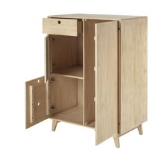 Children's 2-door 1-drawer wardrobe Mini Jungle   Maisons du Monde Baby Cupboard, Locker Storage, Drawers, Mini, Doors, Cabinet, Furniture, Wardrobes, Closets