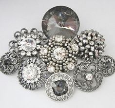 9 mix rhinestone buttons  crystal rhinestone by chicbuttons
