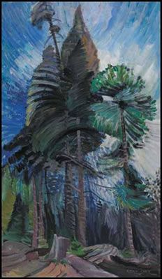 Emily Carr, contemporary of the Group of Seven  -  Wind in the Tree Tops
