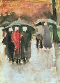 In the Rain, (1882) Vincent van Gogh.