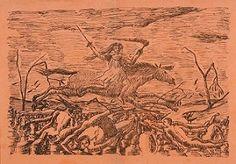 En vente samedi 30 avril 2016 par Lancry & Camper à Corbeil-Essones et sur le Live Interencheres : LE DOUANIER ROUSSEAU, La guerre, 1894, Lithographie. Est. 1 500 - 2 000 euros. Rousseau, Avril, Camper, Orange, Live, Painting, War, Caravan, Painting Art