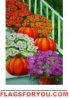 Mums / Pumpkins House Flag
