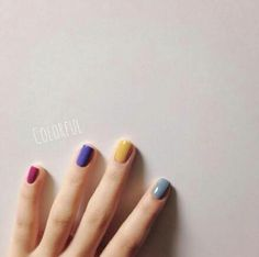 A different color for every nail... I like that. http://hubz.info/38/cotton-candy-hair-color