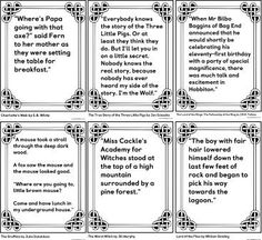 Free printable teaching resource, features of narrative