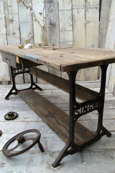 Sewing Table- this is what I really could use.  Plus, it's beautiful.