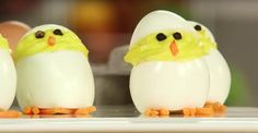 Adorable Hatching Chick Deviled Eggs for Easter Popsugar Food, Side Recipes, Dinner Recipes, Food Shows, Baby Chicks, Something Special, Deviled Eggs, Spring Recipes, Culinary Arts