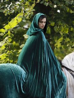 Green Velvet Hooded Cloak