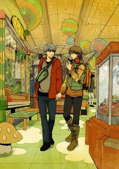Persona 4 Souyo Souji Seta x Yosuke Hanamura