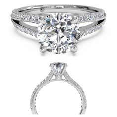 Bammmm the setting on this is a beaut.  -Double French-Set Diamond 'V' Engagement Ring with Surprise Diamonds-
