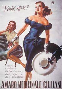 Boccasile, pubblicità Amaro Medicinale Giuliani.