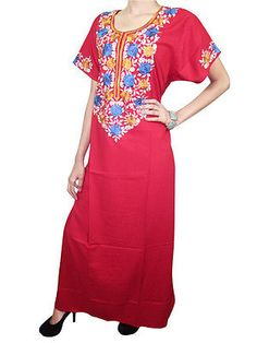 BOHEMIAN-WOMEN-KAFTAN-FLORAL-NECK-EMBROIDERED-RED-COTTON-HIPPY-CAFTAN-DRESS-M  http://stores.ebay.com/mogulgallery/CAFTANS-/_i.html?_fsub=665713919&_sid=3781319&_trksid=p4634.c0.m322