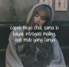 """Kata"""" Cute Inspirational Quotes, Tumbler Quotes, Quotes Lucu, Dark Jokes, Quotes Indonesia, Cute Couples Goals, Mood Quotes, Sarcasm, Captions"""