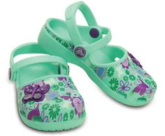 If she likes to float through her day, these are for her. We've made her favorite mary jane style clog prettier with a more streamlined foot and last shape as well as fun butterfly graphics. Pivoting straps give her a comfortable fit, and the Croslite™ foam construction delivers all of the cushion and comfort she expects from Crocs. Free shipping on qualifying orders.