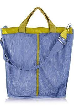 + I B&B leather-trimmed mesh shoulder bag #shoulderbag #women #covetme #finds #covetme #love #fashion #clothes #shoes #makeup