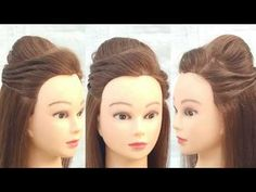 Debut Hairstyles, Party Hairstyles, Indian Hairstyles, Bride Hairstyles, Simple Hairstyle For Saree, Hairdo For Long Hair, Simple Wedding Hairstyles, Puff Hairstyle, Hair Puff