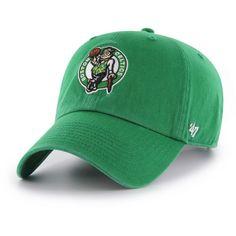 official photos f3296 8c332  47 Men s Boston Celtics Kelly Green Clean Up Adjustable Hat