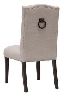Ring Door Knocker Dining Chairs - 2 Fabrics - Free Shipping!