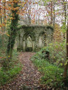 Hackfall Wood - buildings and follies Yorkshire Dales, North Yorkshire, Stone Planters, Listed Building, English Heritage, Garden Fountains, Wonderful Places, Paths, Abandoned