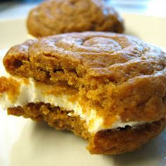 Try Pumpkin Whoopie Pies with Cream Cheese Filling! You'll just need 3 cups AP Flour, 1 Tablespoon cinnamon, 1 teaspoon baking soda, 1 teaspoon baking...
