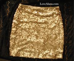 Champagne Matte Gold Skirt - Stretchy Sequin Bodycon Mini/Pencil Skirt - Small, Medium, Large, XLarge gorgeous honey color