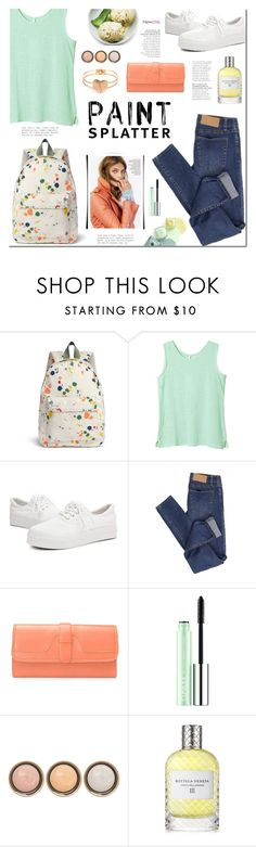 """""""Paint Splatters"""" by mada-malureanu ❤ liked on Polyvore featuring Cheap Monday, Clinique, By Terry, Bottega Veneta, paintsplatter and lovenewchic"""