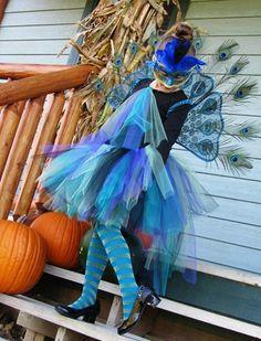 Peacock - tutu, masquerade mask, etc.