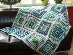 It's funny how color can take something old and common, like Granny squares, and make them new and interesting...